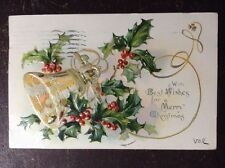 """w/ Best Wishes For A Merry Xmas"" Tuck ""Holly Post Cards"" Series No 100, 1907"