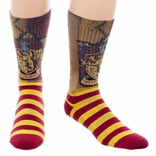 Harry Potter Gryffindor Sublimated 1 Pair Of Crew Socks NEW Clothing