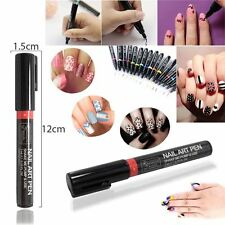 RED Colours Gel Polish Nail Art Pen Painting Design Tool Drawing Easy Made