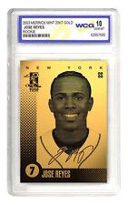 2003 JOSE REYES NY METS 23K GOLD ROOKIE CARD - GEM-MINT 10