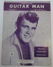 GUITAR MAN 1962 SHEET MUSIC DUANE EDDY LEE HAZLEWOOD