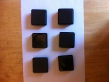 6 of 50mmx50mm Plastic End Caps for metal box section