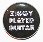 "1"" (25mm) 'Ziggy Played Guitar' David Bowie Button Badge Pin - High Quality!"