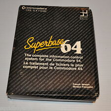 - SUPERBASE 64 Commodore 64 Disk Software French Version -