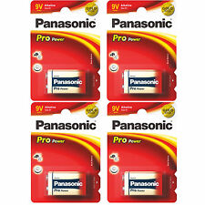 4x BLOCKBATTERIE - PANASONIC -  9V  E-Block  - ALKALINE - PRO POWER 6AM6