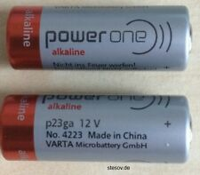 2 Alkaline Battery Power One VARTA 23A 12V Volt p23ga 8LR932 Mn21 V23GA A23 Ø10