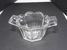 """Jefferson Krys-Tol Chippendale Whip Cream Bowl Clear Crystal 4 3/4"""" D ca1907-20s"""