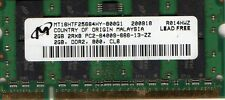 New Micron 2GB PC2-6400 800MHz DDR2 Laptop/Notebook/Netbook/Tablet RAM Memory