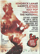 Super Bock Super Rock - Magazine ADVERT Massive Attack/Kendrick Lamar/Iggy Pop