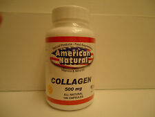 100 CAPSULES COLLAGEN  ALL NATURAL 500 mg SKIN HAIR NAILS COLAGENO