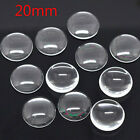 10x Clear Round Cabochon Glass Dome Tile Seals 20mm For Jewelry Making SS5
