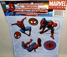 SPIDERMAN  Static Window Cligs  6 Clings