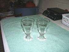 "PAIR CANDLEWICK BOOPIE 4.5"" TALL WINE JUICE GLASSES  By Imperial"