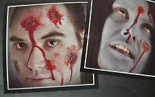 Bullet Hole Wound Scar Latex Make Up Kit Halloween Face, Head, body, arm, Zombie