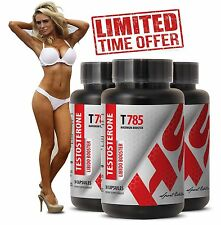 Testosterone Supplement  - T785  (3 Bottles, 90 Capsules)