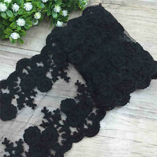2 Yards Scalloped Double Edge Blossom Cotton Embroidered Lace Trim Ribbon Craft