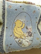 "Disney Classic Winnie the Pooh & Piglet Woven Blanket Cotton 36"" X 48"""