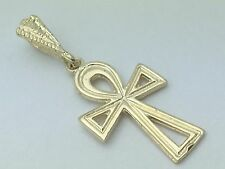 New Solid 14K Yellow Gold Egyptian Ankh Cross Religious Charm Pendant 1.3 grams