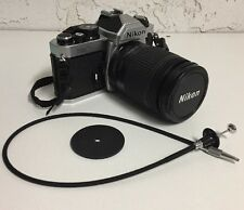 Nikon FM2N 35mm SLR Silver Film Camera Body w/ Nikkor AF 28-80mm f/3.5-5.6 Lens