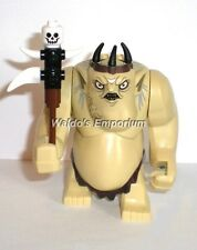 Lego The Hobbit Minifigure GOBLIN KING, With Bone Staff Weapon 79010, New