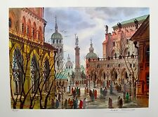 """ANATOLE KRASNYANSKY """"STREETS OF ROME"""" Hand Signed Limited Edition Lithograph"""