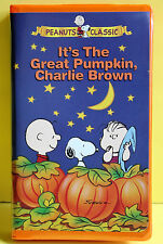 Peanuts ITS THE GREAT PUMPKIN CHARLIE BROWN VHS 1996 Never Opened!!