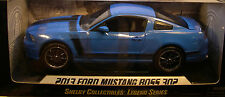 SHELBY COLLECTIBLES 1:18 SCALE DIECAST METAL BLUE 2013 FORD MUSTANG BOSS 302