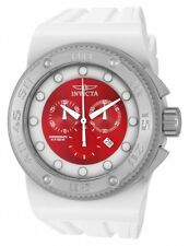 New Men's Invicta 12334 Akula Sport Swiss Chronograph Red Dial White Watch