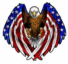 "American Flag Eagle Wings 16"" x 14""  Cornhole Board Graphics Pair"
