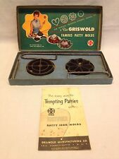 Vintage Griswold Famous Patty Molds with Original Box and Directions