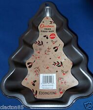 EDDINGTONS 24CM CHRISTMAS XMAS TREE SHAPE CAKE TIN PAN MOULD BAKING NON STICK