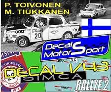 Decalque 1/43 Simca 1000 P. Toivonen - M. Tiukkanen RAlly 1000 Lakes 1974
