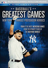 BASEBALL'S GREATEST GAMES NEW YORK YANKEES POSTSEASON HEROICS New 4 DVD 4 Games