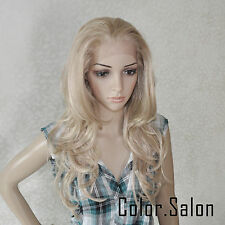 Lace Front Full Wigs Glueless Synthétique Perruque Couleur Mixte 92#613M27