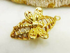 DH82G - 24k Gold over Sterling Silver Vermeil Fancy Dragonfly Charm / Pendant