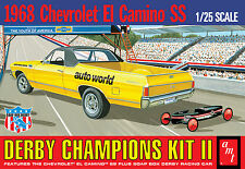 AMT 1:25 1968 El Camino w/Soap Box Derby Car Model Kit AMT1018