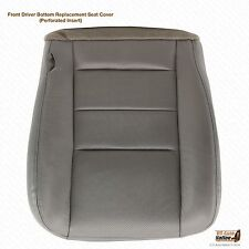 2002  03 2004 Ford F250 Lariat f350 Driver Perforated Leather Seat Cover GRAY