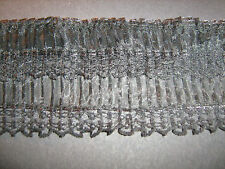 Black Organza Double Pleated Lace Trim 1 Metre    Sewing/Costume/Crafts