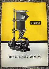 1956 CATALOGO DESCRITTIVO 'VERTIKALKAMERA' CARL ZEISS JENA MICROSCOPI