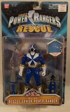 "Power Rangers Lightspeed Rescue 5"" Rescue Armor Blue Ranger Figure Bandai (MOC)"