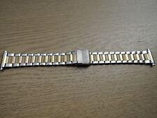 Uhrenarmband Edelstahl bicolor 18 - 22mm b114