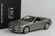 2012 mercedes-benz 500 sl R 231 with hardtop oscuro gris mate 1:18 norev