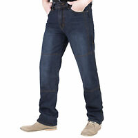 Men's Motorbike Motorcycle Blue 14oz Trousers Jeans Comes With Protective Lining