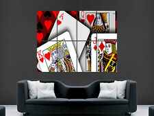 PLAYING CARDS JACK KING QUEEN ACE   WALL POSTER ART PICTURE PRINT LARGE  HUGE