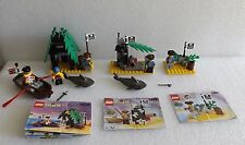 VINTAGE LEGO SYSTEM LOT OF 3 PIRATE SETS 6258 1464 1492 SMUGGLERS SHANTY 100%