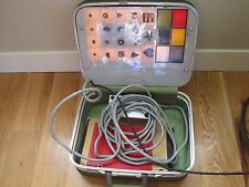 Comtronics Eye Exam Vision Screener W/ Suitcase, Instructions & 3 Transparencies