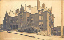 High School Everett MA Early View, in 1916 Real Photo RPPC Postcard