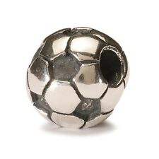 AUTHENTIC TROLLBEAD SILVER SOCCER BALL 11519 PALLONE DA CALCIO