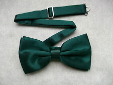 TOP QUALITY DICKIE BOW TIE DARK FOREST GREEN ADJUSTABLE WEDDING BOWTIE SILKY NEW