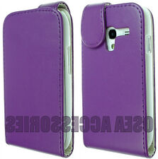 FOR SAMSUNG GALAXY ACE 2 I8160 LEATHER CASE COVER FLIP POUCH WALLET FIT SKIN